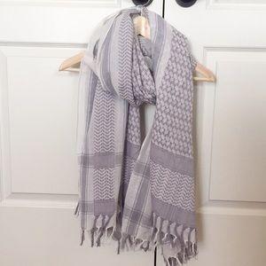 J. Crew oversized cotton tassel scarf